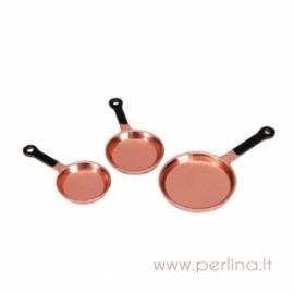 "Keptuvės ""Copperware Frying Pans"", 3 vnt."