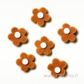 Veltinio gėlytė, šv.ruda, 2,5 cm, 1 vnt
