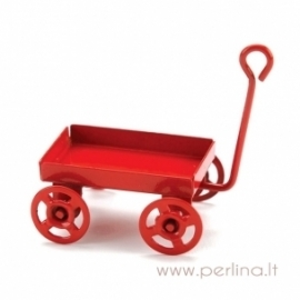 Raudonas metalinis vagonėlis, 4,13 cm
