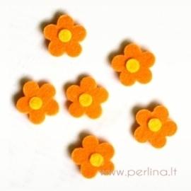 Veltinio gėlytė, oranžinė, 2,5 cm, 1 vnt