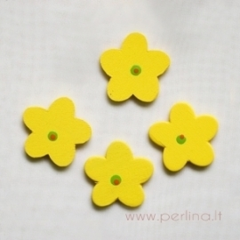 Medinė gėlytė, geltona, 2,8 cm, 1 vnt