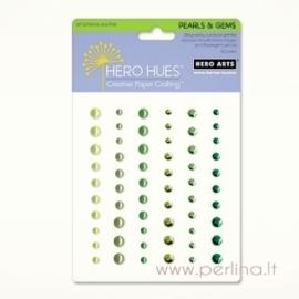 Lipnūs akmenukai, žalių atspalvių, 60 vnt