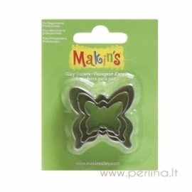 "Metalinės formelės ""Butterfly Clay Cutters"", 3 vnt."