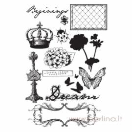 """Cling stamp """"Zephyr"""", 13 pcs"""