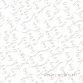 """Popierius """"Swirlpool - Bazzill White"""", 30,5x30,5 cm"""