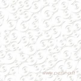 "Paper ""Swirlpool - Bazzill White"", 30,5x30,5 cm"