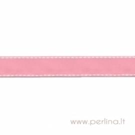 "Grosgrain ribbon ""Pink Dashed"", 22 mm, 1 m"