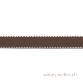 """Ripsinė juostelė """"Brown Dashed"""", 22 mm, 1 m"""