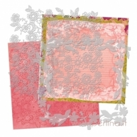 """Plastikiniai trafaretai """"Flower"""", 20x20 cm, 2 vnt."""
