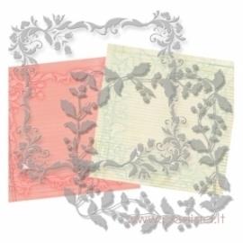 """Plastikiniai trafaretai """"Flower 3"""", 20x20 cm, 2 vnt."""