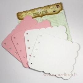 "Kartoninis albumas ""Pink White"", 17,5x15,2 cm"
