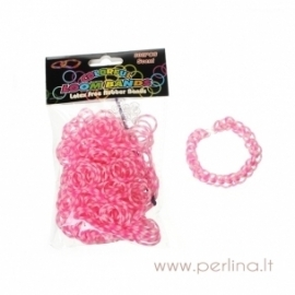 Loom bands bracelet making kit, neon pink