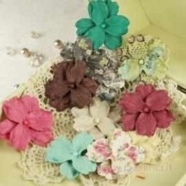 "Popierinės gėlytės ""Marri Collection Madeline"", 12 vnt."