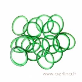 Loom bands gumytės, juoda&žalia, 1000 vnt.