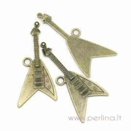 """Pakabukas """"Gitara"""", ant. bronzos sp., 7,6x3,3 cm"""
