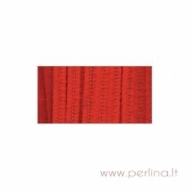 Pūkuota šenilo vielutė, raudona, 30,5 cm, 25 vnt.