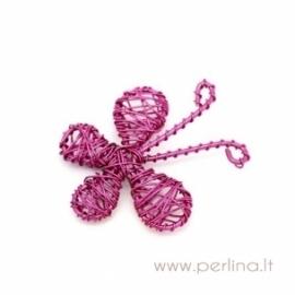 """Pakabukas """"Drugelis"""", rožinės sp. 4,6x4,2 cm"""