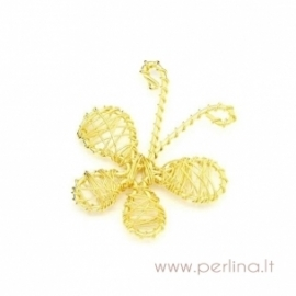 "Pakabukas ""Drugelis"", geltonos sp. 4,6x4,2 cm"