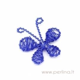 "Pakabukas ""Drugelis"", mėlynos sp. 4,6x4,2 cm"