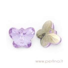 """Glass pendant """"Butterfly"""", purple, 15x12 mm"""
