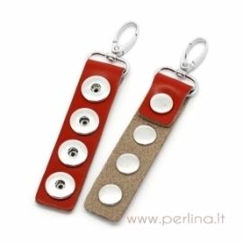 NOOSA stiliaus raktų pakabukas, raudonas, 14,5x3,1 cm