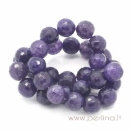 Sintetinio agato karoliukas, violetinis, 12 mm