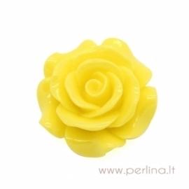 "Akrilinis kabošonas ""Flower"", geltonos sp., 29x29 mm"