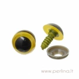 Plastikinės akys, geltonos sp., 18x14 mm, 2 vnt.