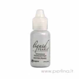 """3D perlamutriniai dažai """"Liquid Pearls Silver Pearl"""", 18 ml"""
