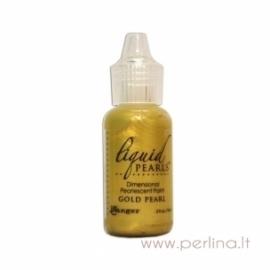 """3D perlamutriniai dažai """"Liquid Pearls Gold Pearl"""", 18 ml"""