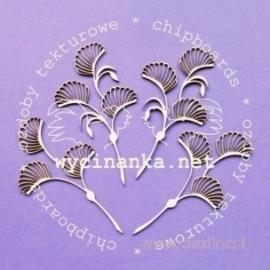 """Chipboard """"Art nouveau - floral designs"""", 4 pcs"""