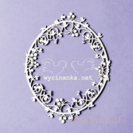 "Chipboard ""BLUEBERRY SWIRLS - little frame"", 1 pc"