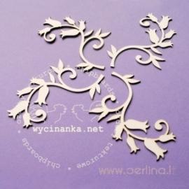 """Kartoninė detalė """"Paparčio žiedai - Ornamentas"""", 4 vnt."""