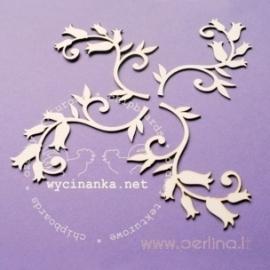 "Chipboard ""Fern rings - Ornament"", 4 pcs"