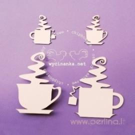 """Kartoninė detalė """"Kavos ar Arbatos?"""", 4 vnt."""