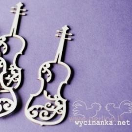 """Kartoninė detalė """"Smuikas su ornamentu"""", 3 vnt."""