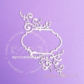 """Kartoninė detalė """"Luvras - rėmelis su ornamentu 3"""", 1 vnt."""