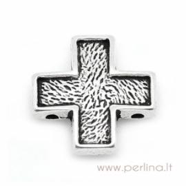 "Ant. sidabro sp. intarpas ""Kryžius"", 15x15 mm"