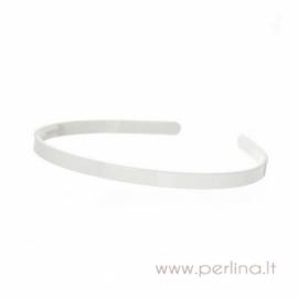 Plastikinis lankelis plaukams, pieno baltumo sp., 8 mm