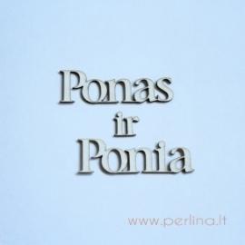 """Kartoninė detalė """"Ponas ir Ponia"""", 3 vnt."""