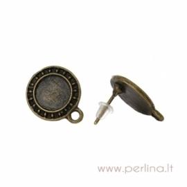 Ant. bronzos adatėlė auskarui, 17x14 mm