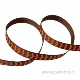 """Grosgrain ribbon """"Coffee Leaf"""", 10 mm, 1 m"""