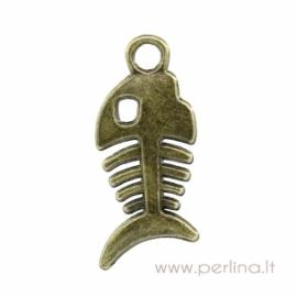"""Ant. bronzos sp. pakabukas """"Žuvies kaulas"""", 28x12 mm"""