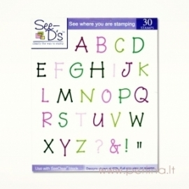 """Antspaudukai """"Taško raidžių kolekcija"""", 30 vnt"""