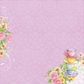 "Popierius ""Dessert - Afternoon Tea"", 30,5x30,5 cm"