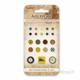"Dek.vinukai ""Auto Vintage"", 21 vnt."