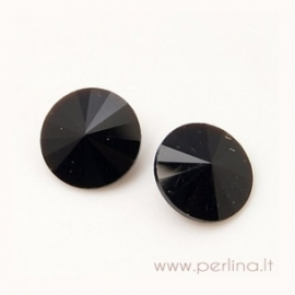 Rivoli akutė, juoda, 14 mm, 1 vnt