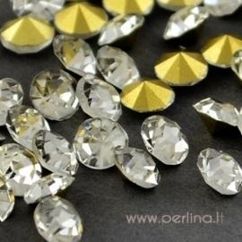 Crystal rhinestone, crystal clear, SS28, 5 pcs