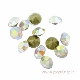 Stiklo akutė, crystal AB, SS11.5, 10 vnt