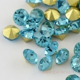 Stiklo akutė, aquamarine, SS11.5, 10 vnt